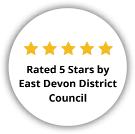 Rated 5 Stars by East Devon District Council - September 2020